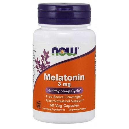 NOW Foods Melatonin 3mg 60 Veg Capsules