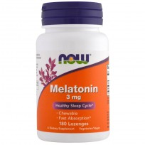 NOW Foods Melatonin Chewable 3mg 180 Lozenges