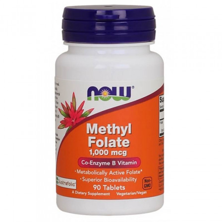 Now Foods Methyl Folate 1000 mcg. 90 tabs.