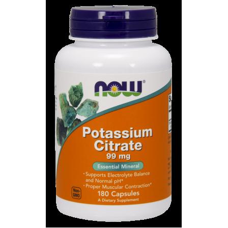 NOW Foods Potassium Citrate 99mg 180 veg caps.