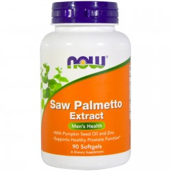 NOW Foods Saw Palmetto Extract With Pumpkin Seed Oil and Zinc 80 mg 90 caps.
