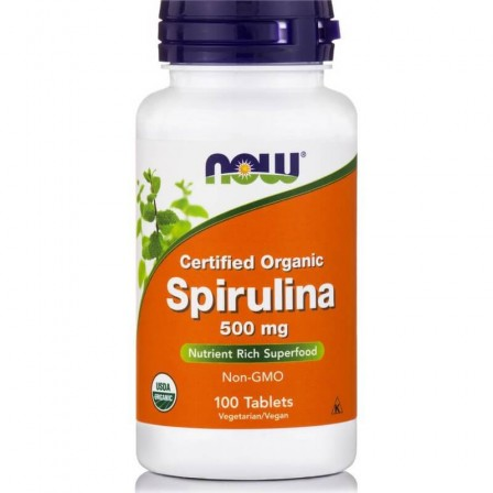 Now Foods Certified Organic Spirulina 500mg 100 tabs.