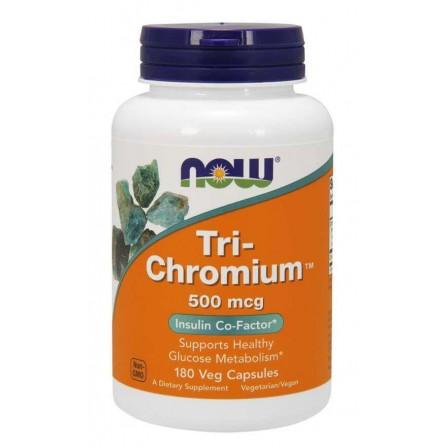 Now Foods Tri-Chromium + Cinnamon 500mcg 180 Veg Capsules