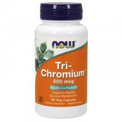 Now Foods Tri-Chromium + Cinnamon 500mcg 90 Veg Capsules