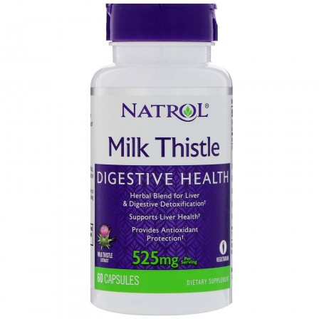 Natrol Milk Thistle 525mg 60 caps.