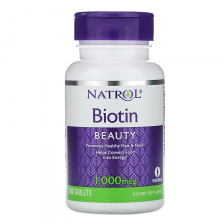 Natrol Biotin 1000 mcg 100 tabs.
