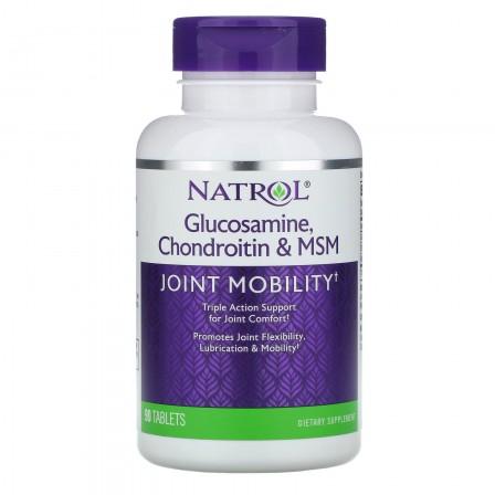 Natrol Glucosamine Chondroitin & MSM 90 tabs.