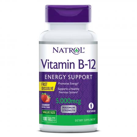 Natrol Vitamin B-12 Fast Dissolve 5000 mcg. 100 tabs.