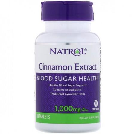 Natrol Cinnamon Extract 1000 mg. 80 tabs.