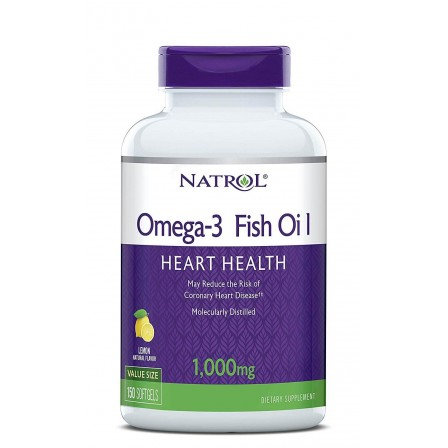 Natrol Omega-3 Fish Oil 1000mg - 150 caps.
