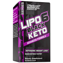Nutrex Lipo 6 Black Keto 60 caps.