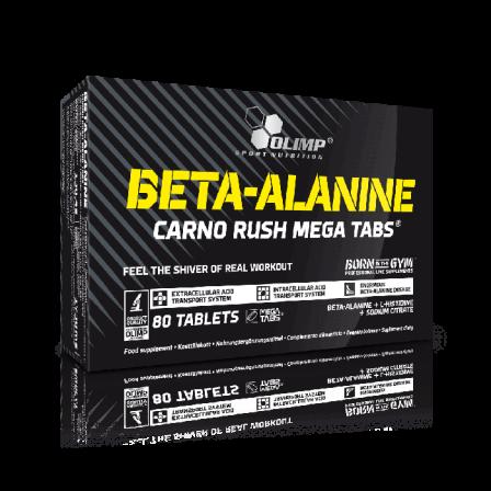 Olimp Beta Alanine Carno Rush Mega Tabs 80 tabs.