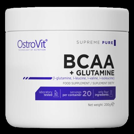 OstroVit BCAA + Glutamine 200 gr. Unflavoured