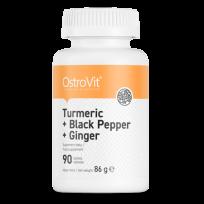 OstroVit Turmeric + Black Pepper + Ginger 90 tabs.