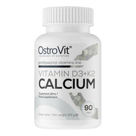 OstroVit Vitamin D3+K2+Calcium 90 tabs.