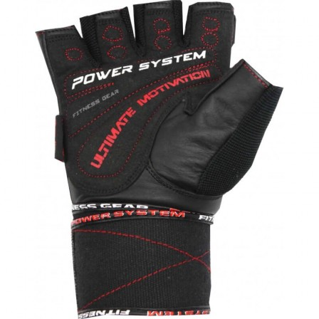 Power system Ultimate Motivation Red / Фитнес Ръкавици