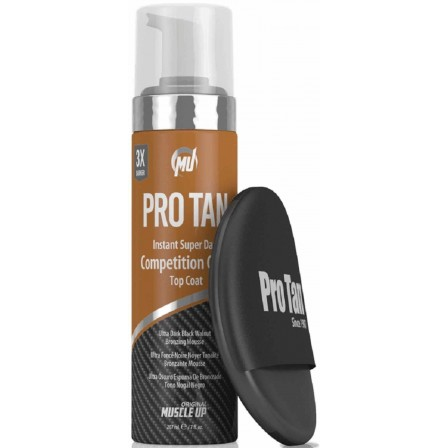 Pro Tan Instant Super Dark Competition Color Top Coat (Foam With Applicator) 207 ml.
