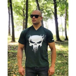 Тениска The Punisher V-Neck Dark Green