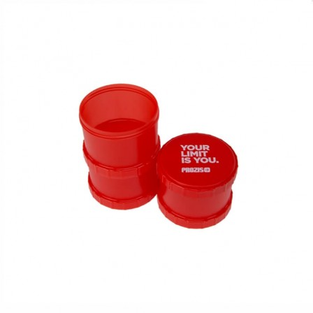 Prozis Powder Container Red 3 x 180ml - Резервоар за доза