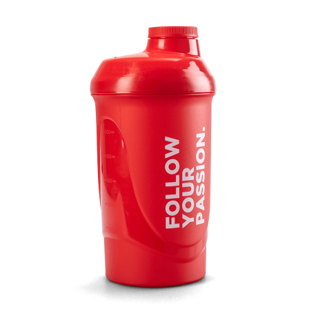 Prozis Shaker Follow Your Passion Red 600 ml.