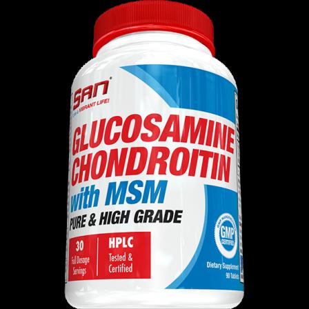 San Glucosamine Chondroitin With MSM 90 tabs.