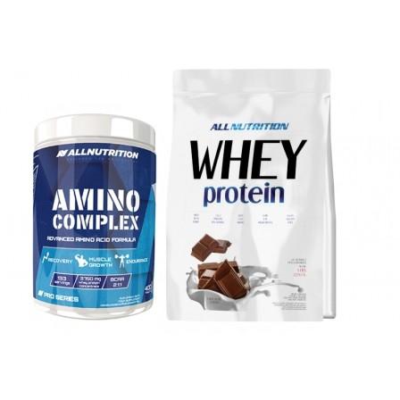 Allnutrition Whey Protein 2270 gr + Amino Complex 400 caps