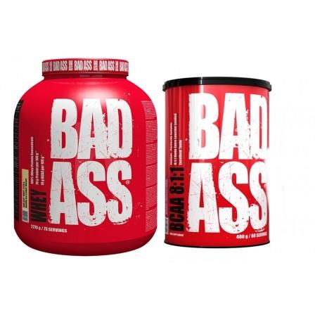 Bad Ass Whey 2270 gr. + Bad Ass BCAA 8:1:1 400 gr.
