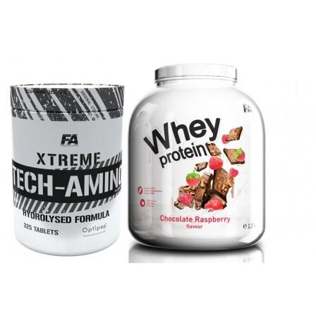 FA Nutrition Wellness Whey Protein 2270 gr. + Fa Nutrition Xtreme Tech Amino 325 tabs.