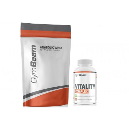 Gym Beam Anabolic Whey 2500 gr. + Gym Beam Vitality Complex 60 tabs.