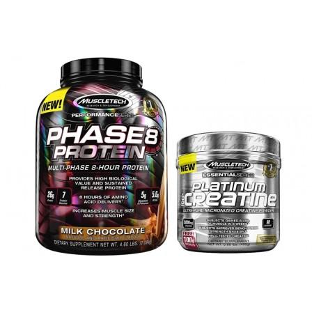 MuscleTech Phase 8 2100 gr. + MuscleTech Creatine 400 gr.