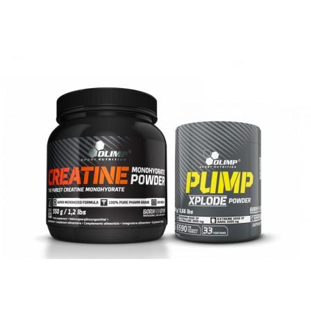 Olimp Creatine Monohydrate 550 gr. + Olimp Pump Xplode 300 gr.