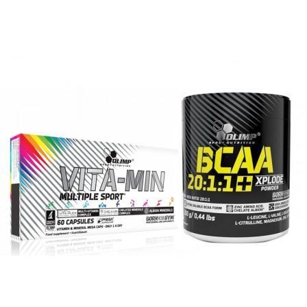 Olimp Vita-Min Multiple Sport 60 caps. + Olimp BCAA 20:1:1 Xplode Powder 200 gr.