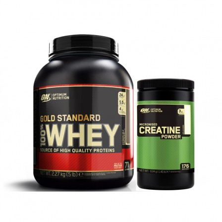 ON Gold Standard Whey 2270 gr. + ON Micronized Creatine Monohydrate 634 gr.