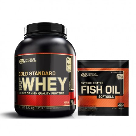 Optimum Nutrition Gold Standard 100% Whey 2270 gr. + Fish Oil 200 softgels