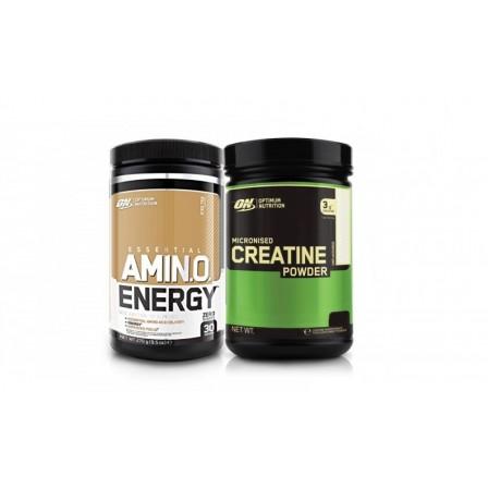 Optimum Nutrition Essential AmiN.O. Energy 270 gr. + Optimum Nutrition Micronized Creatine Monohydrate 634 gr.