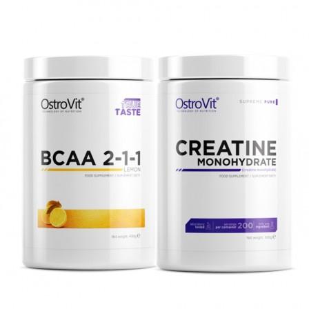 Ostrovit BCAA 2:1:1 400 gr + Ostrovit Creatine Monohydrate 500 gr