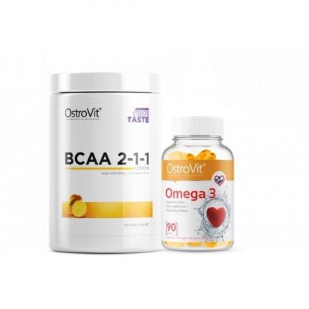 OstroVit BCAA 2:1:1 400 gr. + OstroVit Omega 3 90 caps.