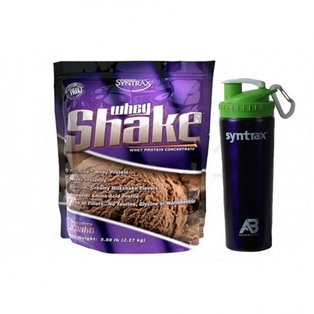 Syntrax Whey Shake 2270 gr. + Syntrax Aero Bottle 800 ml.