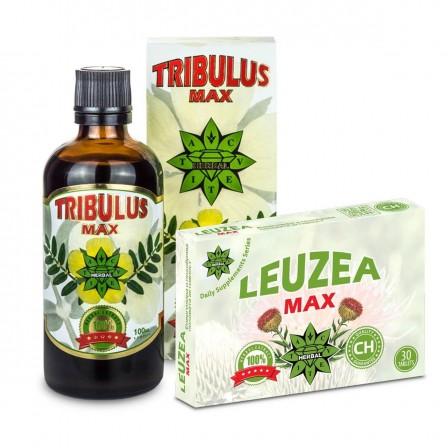 Cvetita Herbal Tribulus Max 100 ml. + Cvetita Herbal Leuzea Max 30 tabs.