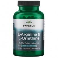 Swanson L-Arginine & L-Ornithine 100 caps.