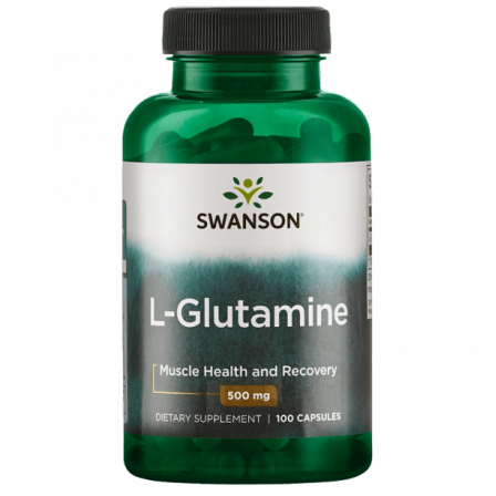 Swanson L-Glutamine 500 mg. 100 caps.