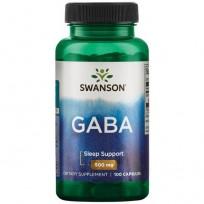 Swanson GABA Gamma Aminobutyric Acid 100 caps.