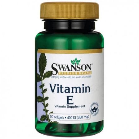 Swanson Vitamin E 400 IU 60 caps.