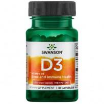 Swanson Vitamin D-3 1000IU 30 caps.