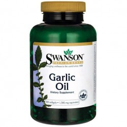 Swanson Garlic Oil 500 caps.