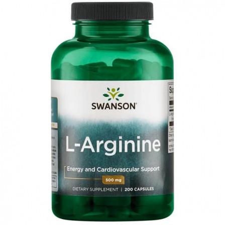 Swanson L-Arginine 200 caps.