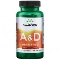 Swanson Vitamin A & D 250 softgels