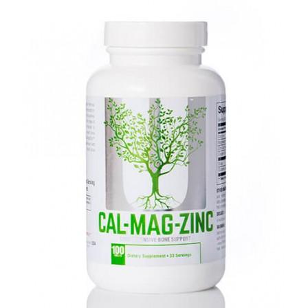 Universal Nutrition Calcium Zinc Magnesium 100 tabs.