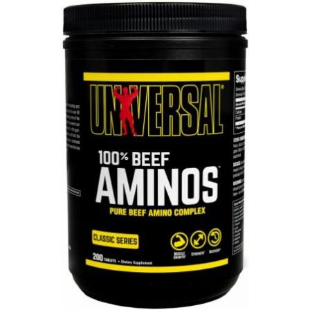 Universal Nutrition Beef Aminos 200 tabs.