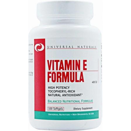 Universal Nutrition Vitamin E Formula 100 Softgels